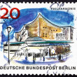 Postage stamp Germany 1965 Philharmonic Hall, Berlin — Stock Photo