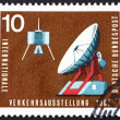 Postage stamp Germany 1965 Communications Satellite and Ground S — Stock Photo