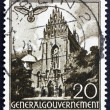 Stock Photo: Postage stamp Poland 1940 DominicChurch, Cracow