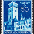 Postage stamp Poland 1940 Court House, Cracow — Stock Photo #13747023