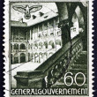 Postage stamp Poland 1940 St. Mary's Church, Cracow — Stock Photo
