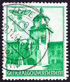 Postage stamp Poland 1940 Cracow Gate, Lublin — Stock Photo
