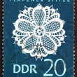 Postage stamp GDR 1966 Lace Design — Stock Photo