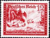 Postage stamp Germany 1939 Automobile Race — Stock Photo