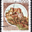 Postage stamp Italy 1980 Castle Cerro al Volturno, Isernia - Stock Photo