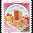 Postage stamp Italy 1980 Castle Svevo, Bari - Stock Photo