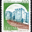 Postage stamp Italy 1980 Castle Imperatore Prato, Florence - Stock Photo