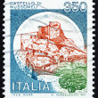 Postage stamp Italy 1980 Castle Mussomeli, Caltanissetta - Stock Photo