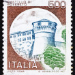 Postage stamp Italy 1980 Castle Rovereto, Trento - Stock Photo