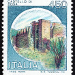 Postage stamp Italy 1980 Castle Bosa, Nuoro - Stock Photo