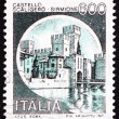 Postage stamp Italy 1980 Castle Scaligero, Sirmione - Stock Photo