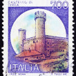 Postage stamp Italy 1980 Castle Ivrea, Turin - Stock Photo