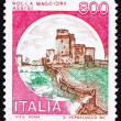 Postage stamp Italy 1980 Castle Rocca Maggiore, Assisi - Stock Photo