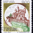Postage stamp Italy 1980 Castle St. Pierre, Aosta - Stock Photo