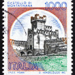 Postage stamp Italy 1980 Castle Montagnana, Padua - Stock Photo