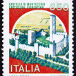 Postage stamp Italy 1986 Montecchio Castle, Castiglion Fiorentin - Stock Photo