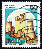 Poštovní známka Itálie 1980 rocca di calascio, hrad — Stock fotografie