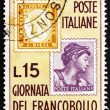 Postage stamp Italy 1976 Stamps of 1862 and 1961 — Stock Photo #13817218