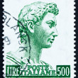 Postage stamp Italy 1957 St. George, by Donatello — Stock Photo