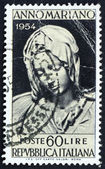 Postage stamp Italy 1954 Madonna of the Pieta, Michelangelo — Stock Photo