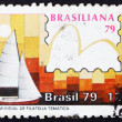 Stockfoto: Postage stamp Brazil 1979 Snipe Class, Yachts and Stamps