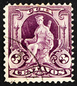 Postage stamp Cuba 1899 Woman, Allegory of Cuba — Stock Photo
