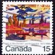 Stock Photo: Postage stamp Canad1973 Mist Fantasy by James E. H. MacDonald