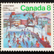 ������, ������: Postage stamp Canada 1974 Skaters at Hull by Henri Masson