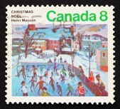 Postage stamp Canada 1974 Skaters at Hull by Henri Masson — Stock Photo