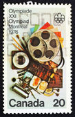 Postage stamp Canada 1976 Communication Arts — Stock Photo