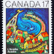 Photo: Postage stamp Canad1981 Painting of Acadia