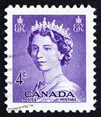 Estampilla canadá 1953 reina isabel ii, reina de inglaterra — Foto de Stock