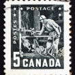 Postage stamp Canada 195 Miner with Pneumatic Drill — Stock Photo