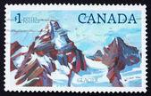 Selo postal montanha alta de canadá 1994 — Foto Stock