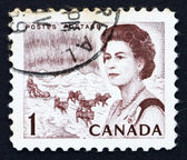 Postage stamp Canada 1967 Northern Lights and Dog Team — Stock Photo