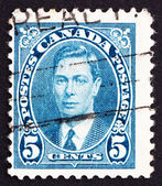 Sello de franqueo canadá 1937 rey jorge vi, rey de inglaterra — Foto de Stock