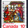 Postage stamp Canada 1976 Nativity, Stained-glass Window — Stock Photo #14005670