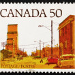 Postage stamp Canad1978 Main Street, Prairie Town — Stock Photo #14005726