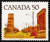 Poštovní známka kanady 1978 hlavní ulice, prérie města — Stock fotografie