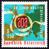Postage stamp Austria 1976 Punched Tape, Map of Europe — Stock Photo