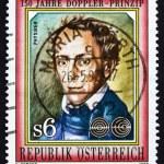Постер, плакат: Postage stamp Austria 1992 Johan Doppler Physicist Scientist