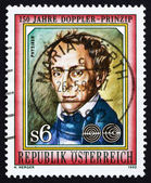 Postage stamp Austria 1992 Johan Doppler, Physicist, Scientist — Foto de Stock
