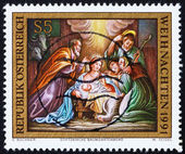Postage stamp Austria 1991 Birth of Christ, Christmas — Stock Photo