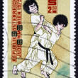 Postage stamp Austria 1975 Judo Throw — Stock Photo
