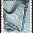 Stock Photo: Postage stamp Austria 1959 Orchestral Instruments