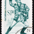 Postage stamp Austria 1970 The Beggar Student, Operetta - Stock Photo