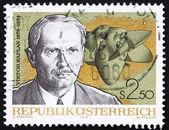 Postzegel oostenrijk 1976 viktor kaplan, uitvinder van de kaplan tur — Stockfoto