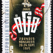 Postage stamp Austria 1971 Trade Union Emblem — Stock Photo