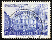 Postage stamp Austria 1973 Academy of Science, by Canaletto, Vie — Stock Photo