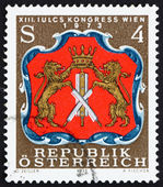 Postage stamp Austria 1973 Arms of Viennese Tanners — Stock Photo